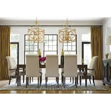 Chandelier Above Dining Table Dining Room Decoration Using Gold Glass Candle Lantern Chandelier