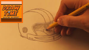 how to draw a football helmet youtube