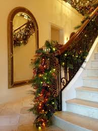 Decorating Banisters For Christmas Decorating Banisters For Christmas Stair Banister Garland