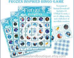 frozen bingo etsy