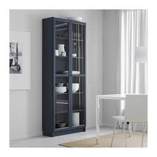 Billy Bookcase With Glass Doors Billy Bookcase With Glass Doors Blue Ikea Okebuy