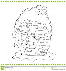 coloring page for adults and children or black and white easter