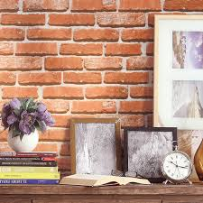aliexpress com buy haokhome modern faux brick wallpaper pumpkin