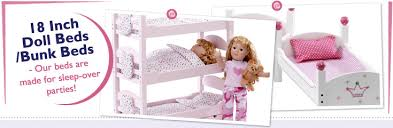 18 Inch Doll Bunk Bed 18 Inch Doll Beds And Bunkbeds Fits American Dolls