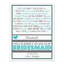will you be my bridesmaid poems will you be my bridesmaid turquoise black poem v2 custom