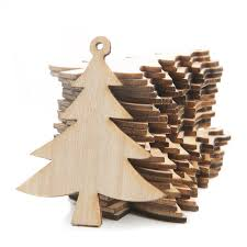 unfinished wood laser cut tree ornaments ornaments
