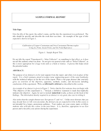 calibration report template 8 layout of a formal report rn cover letter