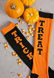 halloween knee socks trick or treat socks dolls kill