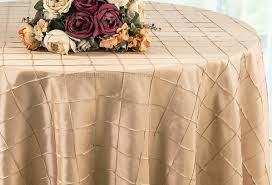 round table cloth covers chagne 108 pintuck tablecloths table linens covers