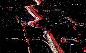 thanksgiving traffic jam los angeles 405 freeway at complete