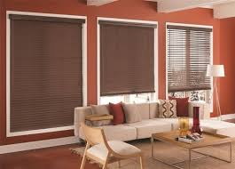 Dark Brown Roman Blinds Bedroom Dark Brown Wood Faux Blinds The Home Depot Pertaining To