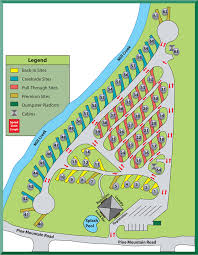 Map Of Tennesse Pigeon Forge Rv Park Map