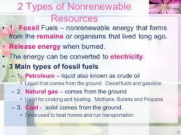 unit 3 lesson 3 nonrenewable resources lesson 4 renewable