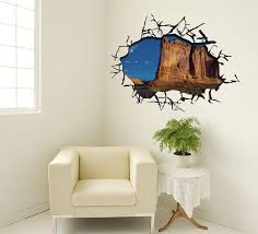 wall stickers murals 3d cracked wall decal sticker ceiling wall mural decor