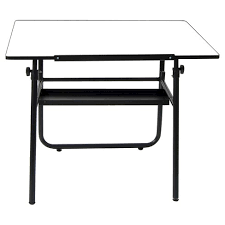 White Drafting Table Ultima Fold A Way Drafting Table Studio Designs Target