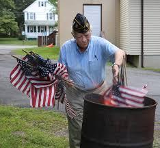 American Legion Flag Warwick U0027s American Legion Post 214 Conducts Flag Disposal Ceremony