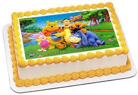 winnie the pooh cakes winnie pooh 1 edible birthday cake or cupcake topper edible