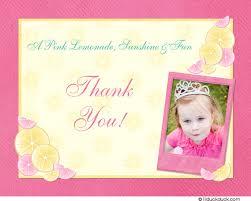 birthday thank you card lemonade thank you card sweet birthday photo