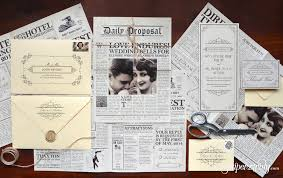 paper for wedding invitations the daily newspaper wedding invitation