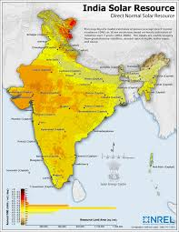 India Map Of States by Indian Solar Resource Map