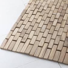 tappeti da bagno set 2 tappeti bagno in legno di teak essenza a prezzi scontati