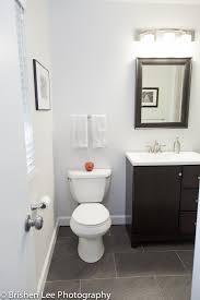modern bathroom renovation espresso bathroom vanity and mirror