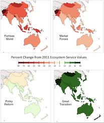 Asia Pacific Map by Without Action Asia Pacific Ecosystems Could Lose A Third Of