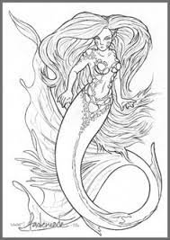 realistic mermaid coloring pages download print free
