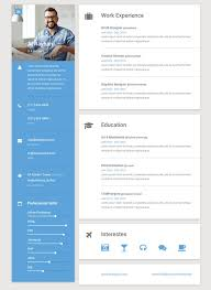 Creative Online Resume Builder by 50 Best Html Resume Cv Vcard Templates 2017 Freshdesignweb