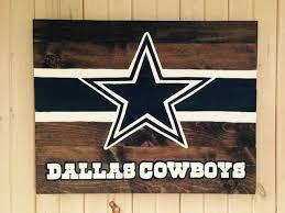 Dallas Cowboys Bean Bag Chair 80 Dallas Cowboys Star And Stripe Hand Painted Wooden Sign