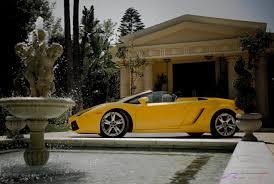 yellow lamborghini lamborghini gallardo convertible italian villa