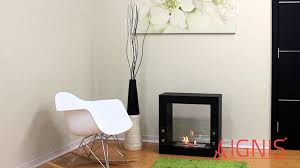 tectum mini black ventless ethanol fireplace by ignis youtube