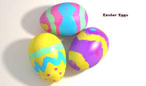 dinosaur easter eggs easter eggs 3d model cgtrader