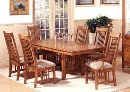 Dining Room Furniture Oak Mission Style Dining Set Oak Room Chairs Table Getexploreapp