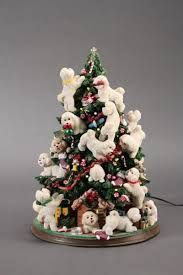 mint light up bichon frise christmas tree