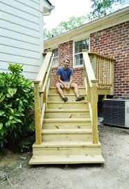How To Make A Banister For Stairs How To Build A Deck It U0027s Done Young House Love