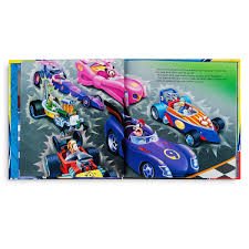 mickey ribbon mickey and the roadster racers race for the rigatoni ribbon book