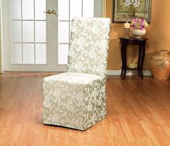 dining room chair slip cover amazon com sure fit scroll dining room chair slipcover