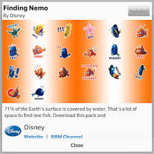 finding nemo stickers bbm shop crackberry