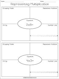 free representing multiplication worksheet repeated addition