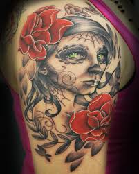 sugar skull half sleeve tattoomagz