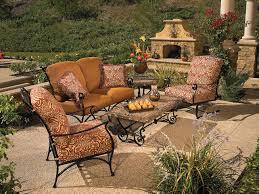 Best Wrought Iron Patio Furniture - patio ideas rod iron patio furniture with browny colourway also