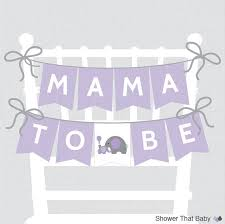 purple elephant baby shower decorations printable baby shower chair banner to be in purple