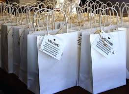wedding guest gift bags gift bags for wedding favors see larger image personalized gift