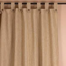 Curtains With Tabs Burlap Tabs Curtains With Buttons 2020 Pay 1 2 By Harrington