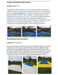 basketball court floor kit backyard 44x29