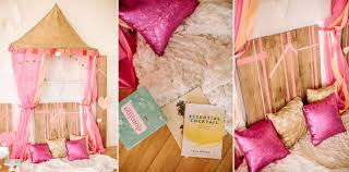 girlfriend get together idea a sparkly pink and gold soiree