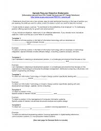 How To Make A Resume With One Job by Sample Resume Objective Statement Berathen Com