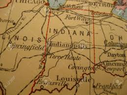 Maps Of Indiana Vintage Map Of 1929 Indiana Hosier State Stock Photo Picture