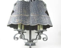 Vintage Wrought Iron Chandeliers Shabby Chic Chandelier Etsy